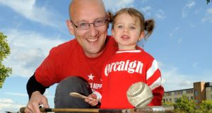 Broadcaster Justin McCarthy with his two-year-old daughter Ella. Photograph: Dave Meehan