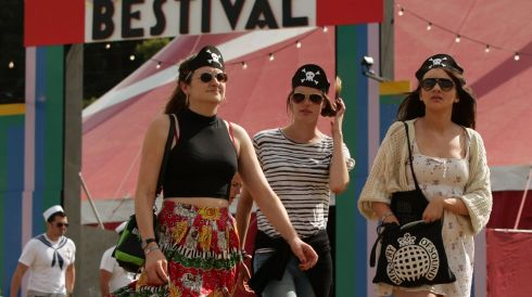 Them there's pirates at the Bestival. Photograph: Yui Mok/PA Wire