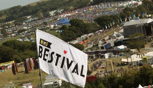 A general view of the site on day one of Bestival. Photograph: Yui Mok/PA Wire