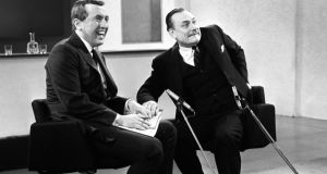 David Frost interviewing Enoch Powell on LWT. Photograph: PA Wire