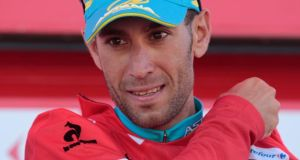Vincenzo Nibali remains in the red leader's at the Vuelta a Espana. Photograph: Miguel Vidal/Reuters