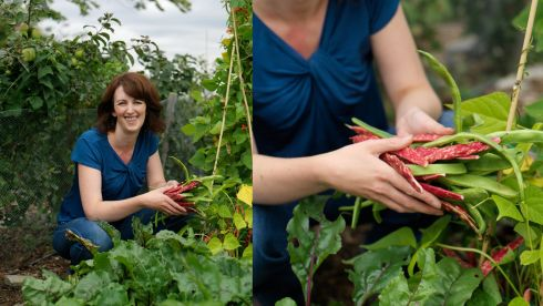 "Claire O'Brien: ""My friend and I have an allotment together. Before that I grew stuff in pots in my small back garden, so it's fabulous to have such a load of space."""