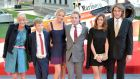 The family of James Hunt attend the premier of Rush at Odeon Leicester Square, London. Phptpgraph: Anthony Devlin/PA Wire