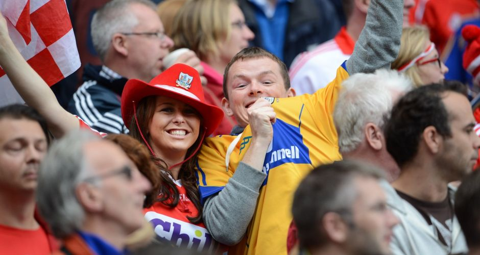 Hurling fans in Croke Park for the All Ireland Final