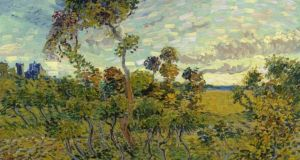 Detail from Sunset at Montmajour by Vincent Van Gogh. Photograph: Van Gogh Museum