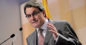 Catalan regional leader Artur Mas has appeared to soften his stance on separation from Spain. Photograph: Josep Lago/AFP/Getty Images