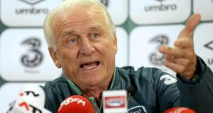 If Republic of Ireland manager Giovanni Trapattoni was feeling the pressure he wasn't showing it during yesterday's press conference at Ernst Happel Stadion in Vienna,  where Ireland will meet Austria tonight. Photograph: Donall Farmer/Inpho