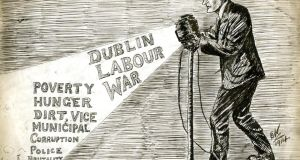 Cartoon by Ernest Kavanagh of the Irish Worker