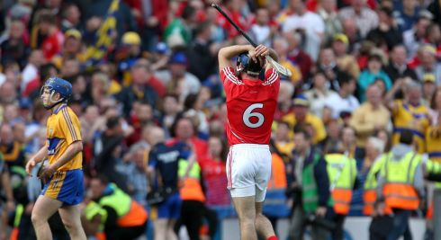 Cork's Christopher Joyce dejected at the final whistle after the game ended in a draw.