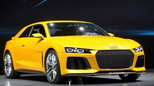 The new Audi Sport Quattro concept car. Photograph: Wolfgang Rattay/Reuters