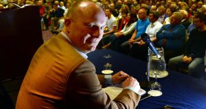 Declan Ganley, speaking in Dublin earlier this year.Photograph: Brenda Fitzsimons / The Irish Times