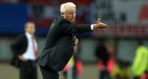 Republic of Ireland manager Giovanni Trapattoni in Vienna. Photograph: Donall Farmer/Inpho