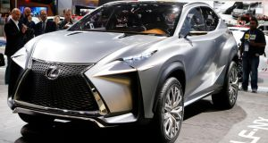 The Lexus LF-NX concept at the Frankfurt auto show