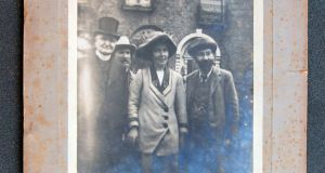 Fr Eugene Sheehy with Hanna and Francis Sheehy Skeffington in August 1912.