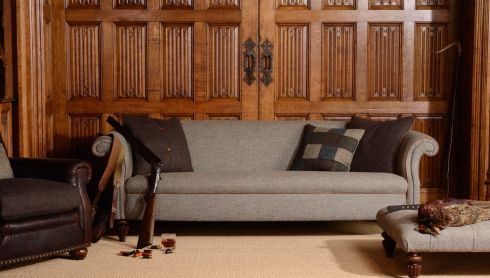 This bang-on-trend Harris tweed upholstered Bowmore seating range is part of the new-season stock at Arnotts (arnotts.ie). The Edwardian-style chesterfield sofa comes with an armchair and matching footstool. Bargain Hunter readers can buy the armchair (72cm by 76cm by 90cm) for €899, down from €1,029; the midi sofa (195cm by 99cm by 77cm) for €1,749, down from €2,049; and the matching stool (160cm by 80cm by 40cm) for €679, down from €749. Offer ends September 30th.
