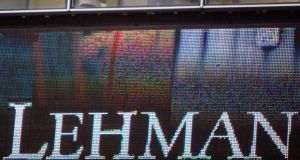 The headquarters of Lehman Brothers in New York on September  15th, 2008, the day the bank filed for bankruptcy.