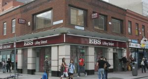 Staff at EBS, the subsidiary of the AIB group , are planning a one-day stoppage later this month if there is no progress by early next week on dealing with a row over a bonus payment. Photograph: Brenda Fitzsimons/The Irish Times