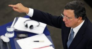 European Commission President Jose Manuel Barroso  in Strasbourg yesterday. Photograph: Vincent Kessler/Reuters.
