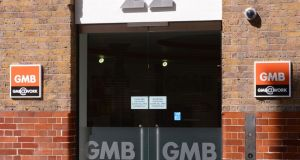 A general view of the headquarters of the GMB Union in Euston, London.