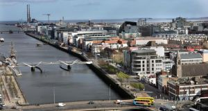 The  Liffey in Dublin. Mr Varadkar said Dublin was not in competition with Cork or Belfast, but with cities such as Tel Aviv, Copenhagen and Barcelona