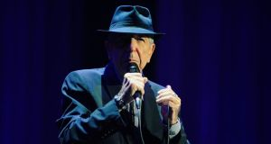 Leonard Cohen pictured perfroming in The O2 Dublin tonight. Photograph: Aidan Crawley