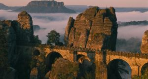 The magical landscape in the Saxon Switzerland National Park