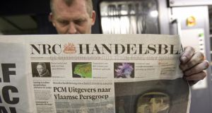 All the country's main TV and radio stations, news agencies, and newspapers, including NRC Handelsblad and Het Financieele Dagblad, are taking part. Photograph: Toussaint Kluiters/AFP/Getty Images