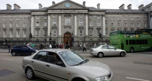 Under the plans, half of College Green would be turned into a pedestrian plaza. Photograph: Eric Luke/The Irish Times