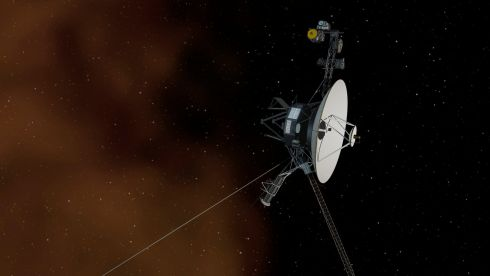 An artist's concept depicts Nasa's Voyager 1 spacecraft entering interstellar space - the space between stars. Nasa's Voyager 1 spacecraft is officially the first human-made object to venture into interstellar space, according to a Nasa statement. The 36-year-old probe is about 12 billion miles (19 billion kilometres) from our sun. Photograph: JPL-Caltech/Nasa/Reuters