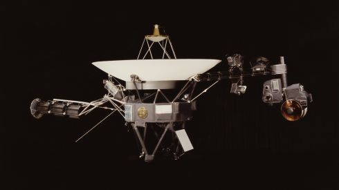 Launched in 1977, the Voyager probe was originally designed as a four-year mission to explore Saturn.  Photograph: Nasa/Getty Images