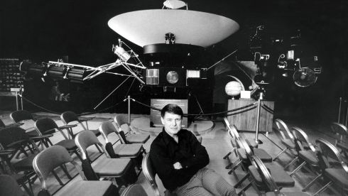 Bruce C Murray, a planetary geologist, in 1979 with a model of Voyager 1. Murray, who won his spurs interpreting findings of early missions to Mars and who led Nasa's Jet Propulsion Laboratory through a time of flagging support for new flights in the late 1970s, died on August 29th of this year at age 81. Photograph: David Strick/New York Times