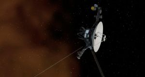An artist's graphic depicts Nasa's Voyager 1 spacecraft entering interstellar space, or the space between stars. Photograph: JPL-Caltech/Nasa/Reuters