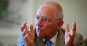 Wolfgang Schaeuble, Germany's finance minister, has said the European Commission should not have the final say on when and how a eurozone bank could be closed . Photograph: Krisztian Bocsi/Bloomberg.