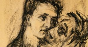 Coal and black chalk portrait by Oskar Kokoschka of himself and his lover Alma Mahler. Photograph: Imagno/Getty Images