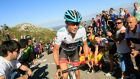 Radio Shack team rider Chris Horner took the lead after Stage 19 of the Vuelta a Espana. Photograph: Joseba Etxaburu/Reuters