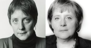 Angela Merkel in 1991 and 2006.Photographs: