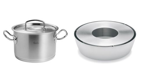 28cm stockpot, €218.83 (including p+p), Fissler at amazin.co.uk. Hotplate, €44.25, Blosus, kitchenessence.ie