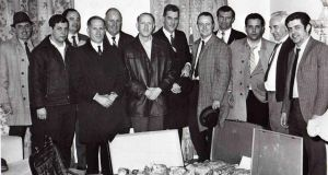 Detective Peter Daly (centre) and his team with a large haul of narcotics in New York in 1970