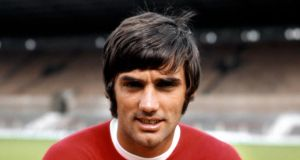 Shot from July 1968 of Manchester United's George Best. Photograph: PA Photos/PA Wire