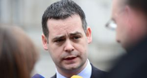 Sinn Féin spokesperson on finance Pearse Doherty  launched an attack on Fianna Fáil at a seminar of the Kennedy Summer School in New Ross. Photograph: Alan Betson/The Irish Times
