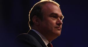 "Urging delegates to the Liberal Democrats' autumn conference  to be ""the voice of green reason"" in the shale gas debate, British energy secretary Ed Davey yesterday told them to ""reject the zealots who claim it's a catastrophe"". Photograph: Photo by Dan Kitwood/Getty Images"