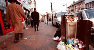 Statistics show that the level of unpaid litter fines rose from 45 per cent in 2011 to 52 per cent in 2012, before jumping to 64 per cent in the period between January and June 2013. Photograph: Eric Luke/The Irish Times