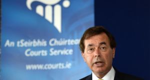 """If he [Alan Shatter] is saying this court is not 100 per cent sound, then we have a much greater emergency than a backlog of civil cases  .  .  .  We have hundreds of people in jail who don't belong there.""    Photograph: Dara Mac Dónaill"