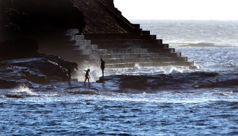 A nothing less than epic scene at the pollock holes near Kilkee, Co Clare. Photograph: Alan Betson/The Irish Times