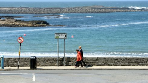 Walking the seafront at Kilkee , Co Clare. Photograph: Alan Betson/The Irish Times