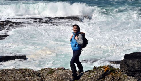 Laura Foley from the Long Way Round Tours along the Loop Head peninsula. Photograph: Alan Betson/The Irish Times