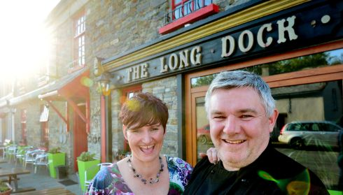 Imelda and Tony Lynch at their gastropub, The Long Dock, in Carrigaholt, Co Clare. Photograph: Alan Betson/The Irish Times