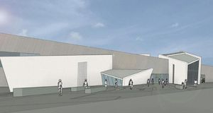 "Artist's impression of how the Peace Building and Conflict Resolution Centre at the Maze near Lisburn will look – will Sinn Fein now say ""no Maze reconciliation centre, no overall Maze development"" ?"