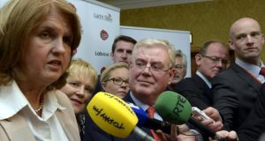 It seems leader Eamon Gilmore and his deputy Joan Burton do not enjoy the most harmonious of working relationships. Joan, say some, is after Eamon's job. Photograph: Brenda Fitzsimons