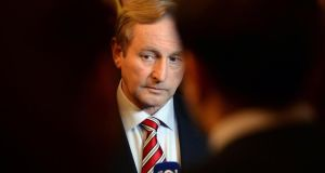Enda Kenny, at the Fine Gael Parliamentary Party conference, at Killenard, Co Laois yesterday. Photograph: Eric Luke